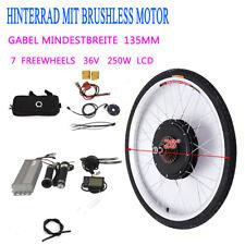 """E-bike Conversion Kit 28"""" LCD Elektrofahrrad Hinterrad Umbausatz 36V Motor DE"""