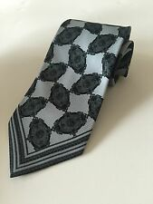 Gianfranco Ferre Blue Tie For Men With Design Made In Italy 100% Silk