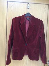 Zara red velvet occasion jacket Euro size L (UK 10-12)