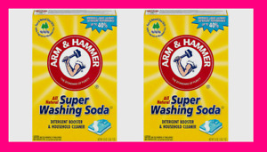 Set/ 2 Arm & Hammer SUPER WASHING SODA 55 oz Detergent Booster Household Cleaner