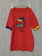Ader Error Knit Short Sleeve Graphic Sweater Size 3 Korea