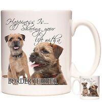 Border Terrier 11oz ceramic gift mug, Can be personalised. Dishwasher safe