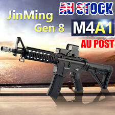 🔥DIY Plastic JinMing 8th Gen8 M4A1 M ag-Fed Gel Ball Blaster Toy Black Au Stock