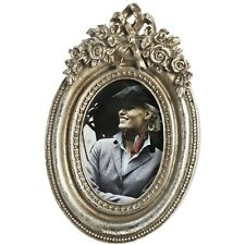 Antique Silver Carved Oval Picture Frame - Style My Pad