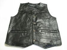 Men's Black Leather Vest