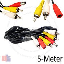 5m De Seguridad Cctv Cámara Espía Av Rca De Video Dvr Dc Power Plug De Audio Cable de extensión