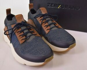 Cole Haan NWB Sneakers Size 11 M ZEROGRAND All Day in Marine Blue and Tan $220