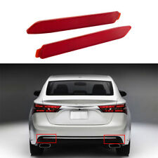 2pcs Rear Bumper Reflectors Red Lens Tail Lamp For Toyota Avalon 2013-2018