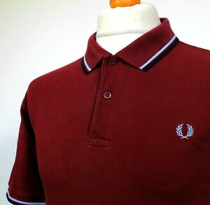 """Fred Perry Twin Tipped M1200 Polo (XL/XXL/46"""" - Port) Mod 60's Scooter Casuals"""