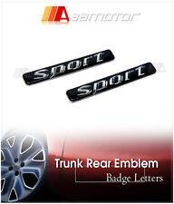 x2 Sport Black Fender Side Emblem Badge Letters Mercedes Benz AMG SL320 SL500