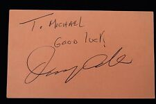 Danny Aiello The Godfather Actor Autographed Celebrity 3x5 Card Signed 15A