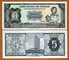 Paraguay, 5 Guaranies L. 1952, P-195a, Sig. type 1 UNC
