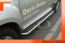 DACIA DUSTER 2010-2013 MARCHE-PIEDS INOX PLAT / PROTECTIONS LATERALES