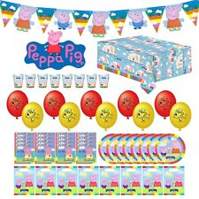 52 Piece ! Peppa Pig Kids Party Tableware Set Cups Plates Napkins Bags Balloons