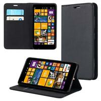 Custodia per Nokia Lumia 625 Cover Case Portafoglio Wallet Etui Nero