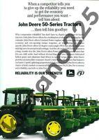 A3 Vintage John Deere 50 Series 3350 Tractor Advertising Brochure Poster