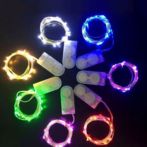 UK 20-50 LED Battery Micro Rice Wire Copper Fairy String Lights Party Muti-color