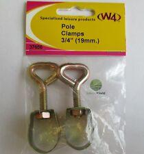 "W4 Pole Clamps 3/4"" (19mm) (2 pcs) 37656 *Multi buy Discounts*"