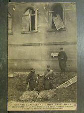 cpa 68 guerre 1914 15 balswiller trou d'obus militaires