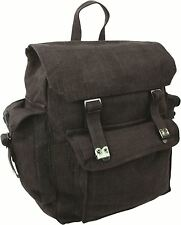 Highlander Large Pocketed Web Army Style Canvas Backpack 5034358080198 Black
