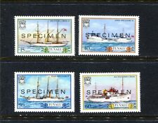 "TUVALU 410-13 (4), 1987 SHIP TYPES OF 1981 OVPTED   ""SPECIMEN,"" MNH, (ID6512)"