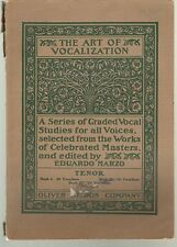 THE ART OF VOCALIZATION (1907) 36 vocalises (studies) for the Tenor