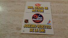 1981-82 Post NHL Stars In Action Pop-Ups - #19 Winnipeg Jets  Morris Lukowich EX