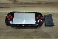 Sony PSP 3000 console RedxBlack w/battery pack Japan x471