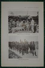 1916 WWI WW1 PRINT ~ LOADING ITALIAN-GUN TRENTINO FRONT ~ ITALIAN FRONT ON MARCH