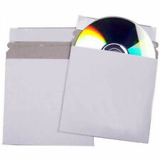 150 CD DVD Cardboard Sleeves Peel and Seal Envelopes / Mailers White