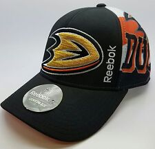 Anaheim Ducks NHL Reebok Black Meshback Adjustable Snapback Hat/Cap