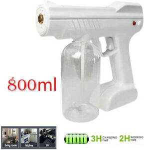 Spray Gun Blue Light Nano Steam Sprayer Fogging Home Office Car Disinfection US