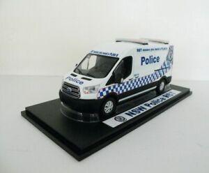 Australian NSW Police RBT Vehicle, Car - Van Custom Graphics 1/43 White Diecast