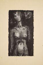 MARIONO Loth et ses filles Nu Féminin Visage Dessin lavis encre 1975