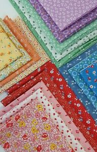 C1 Vintage Chocolate Cotton Fabric Quilt Block Repro Free Shipping World Wide