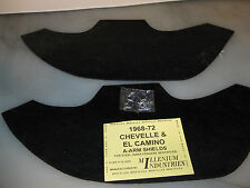 1968-72 68 69 70 71 72 CHEVELLE, EL CAMINO A-ARM SHIELDS W/STEEL WHEELHOUSES