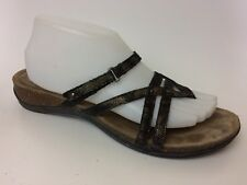 Dansko Black Leather Slides Wedge Flip Flop Thong Sandal Women 10.5 - 11 M EU 41