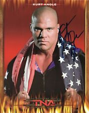 KURT ANGLE SIGNED PHOTO WITH PROOF & COA WWE WWF TNA