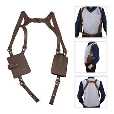 LEATHER ANTI-THEFT HIDDEN UNDERARM HOLSTER STYLE SHOULDER WALLET PHONE MENS BAGS