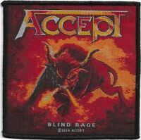 Official Licensed Merch Woven Sew-on PATCH Metal Rock ACCEPT Blind Rage