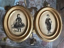 Vintage Borghese Wall Plaques Boy & Girl