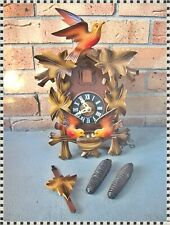 New ListingVintage Colorful Black Forest Cuckoo Clock West Germany Regula Complete Working!