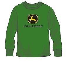 NEW Green L/S John Deere Logo T-Shirt Boys Size 14