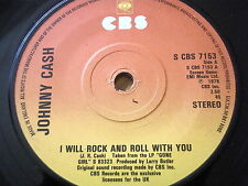 """JOHNNY CASH - I WILL ROCK AND ROLL WITH YOU  7"""" VINYL"""