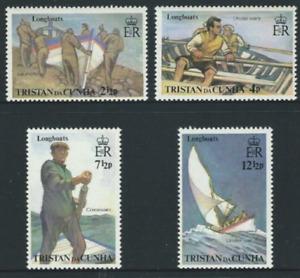 Tristan Da Cunha - 1972 - Sc 174 - 77 - Longboats VF MNH