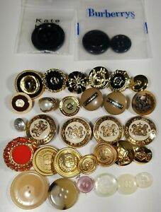 LOT Vintage Spare buttons St John Burberry + others