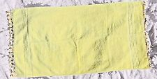 VINTAGE CANNON YELLOW BATH TOWEL WITH EMBROIDERED  EDGES