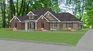Custom House Home Building Plans 3 bed Split Ranch 1766 sf-- PDF file