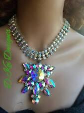 drag jewelry AB Necklace - Adjustable - Big Bling dragqueens cross dresser