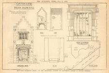 Gatehouse, Thorpe Salvin Hall, Yorkshire. Plans by J. Mansell Jenkinson 1905